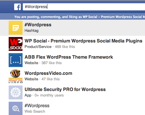 Facebook Graph Search for Hashtags