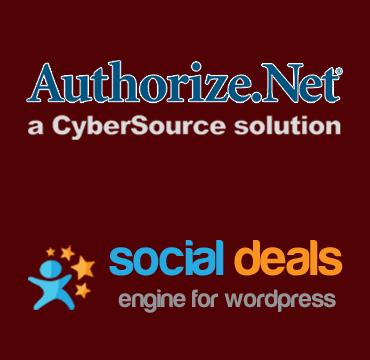 Authorize.net Payment Gateway for the Social Deals Engine