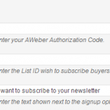 AWeber Email Marketing Settings