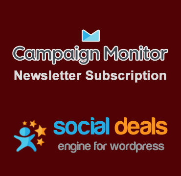 Campaign Monitor Email Marketing Extension for the Social Deals Engine