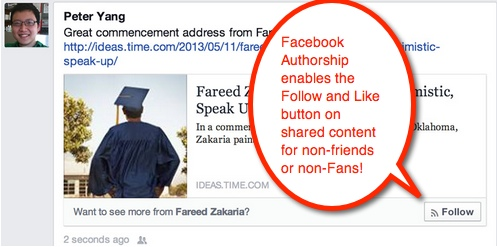 Facebook Authorship