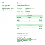 Green PDF Invoices Template
