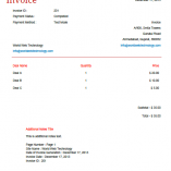 Minimal PDF Invoices Template
