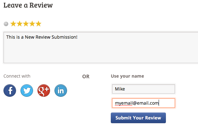 New Review Submission Form