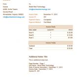 Orange PDF Invoices Template