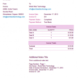 Pink PDF Invoices Template