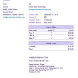 Purple PDF Invoices Template