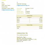 Yellow PDF Invoices Template