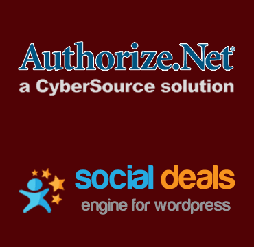 Authorize.net Payment Gateway for the Social Deals Engine