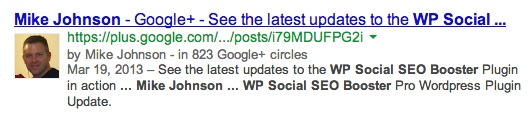 Google Authorship from Google Plus Profile