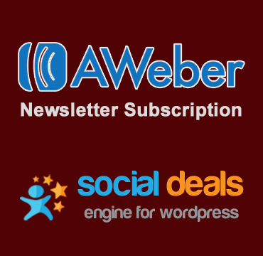 Aweber for Social Deals Engine