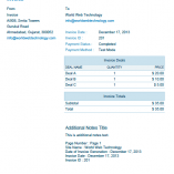 Blue PDF Invoices Template