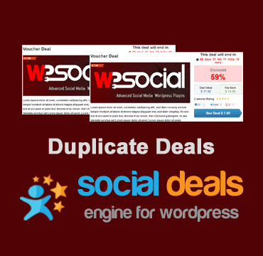 Duplicate Deals Extension for the Social Deals Engine