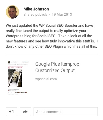 Google Plus Itemprop