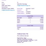 Purple PDF Invoices Template