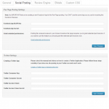 Social Review Engine Social Posting Settings