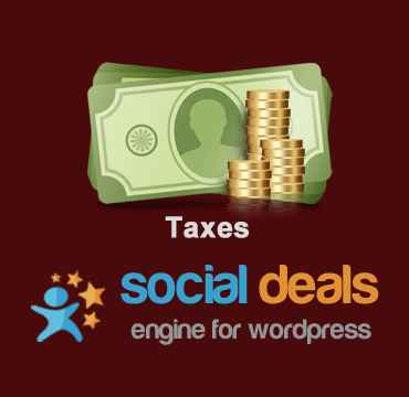 Taxes Extension for the Social Deals Engine Plugin