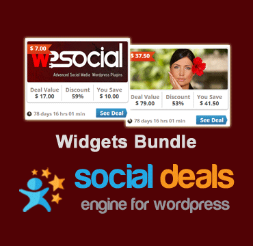 Widget Bundle for the Social Deals Engine